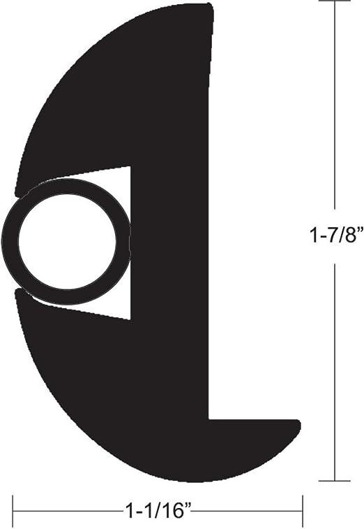 """TACO Flex Vinyl Rub Rail Kit Black//Black Insert 1-7//8/"""" x 1-1//16/"""" V11-2423BBK50-2"""