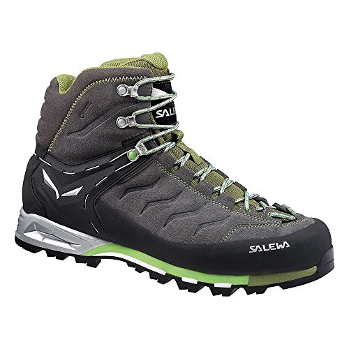 Salewa Men's MS MTN Trainer Mid GTX Hiking Shoe, Pewter/Emerald, 10 M (Pewter English Lighting)