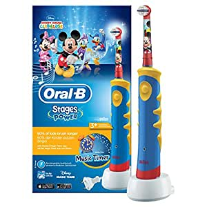 Oral-B Stages Power Kids - Cepillo de dientes eléctrico de Mickey Mouse