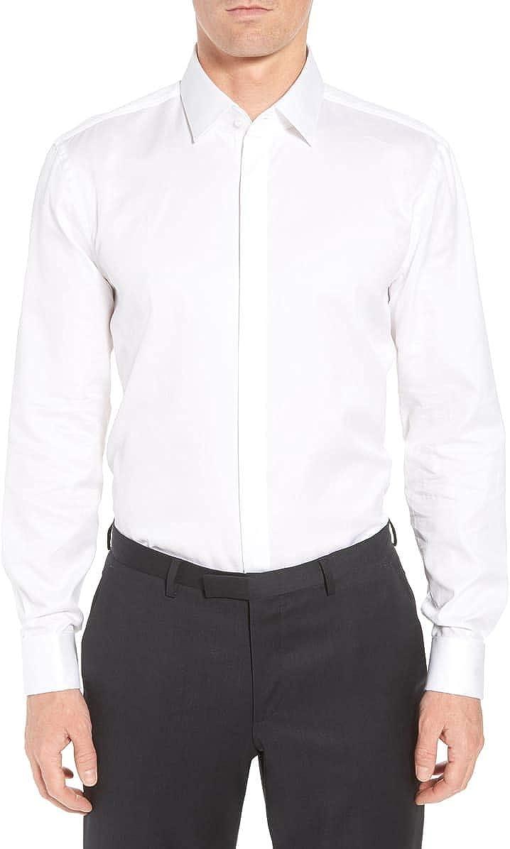 Hugo Boss Mens Myron Sharp Fit Tuxedo Shirt