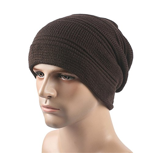Slouchy unisex café BaronHong Cap caliente sombrero terciopelo Skully Outdor Beanie Deportes xEHwP