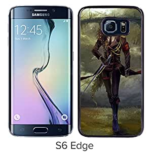 Beautiful And Unique Designed With Guy Sword Bird Road Bridge Castle For Samsung Galaxy S6 Edge Phone Case