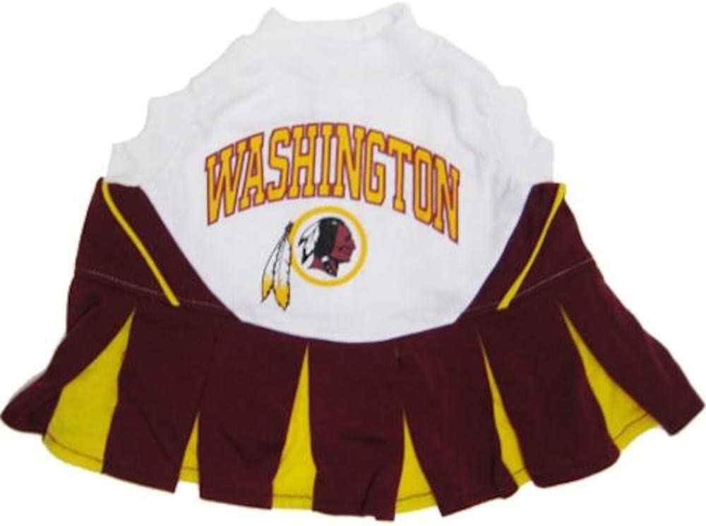Football Fanatics NFL Washington Redskins Burgundy-Gold Pet Cheerleader Dress