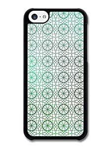 MMZ DIY PHONE CASEAMAF ? Accessories Circle and Geometrical Stained Glass Pattern case for iphone 4/4s