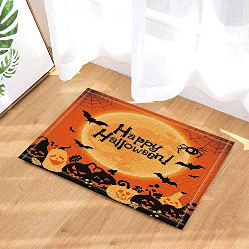 Creative Green Happy Halloween Bathtub Non-Slip Non-Slip Bottom Door, Door mat Outside, Bath mat 15.7x23.21in, Bath mat ()