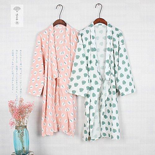 da donna Fancy Camicia L Abito Pigiama Taglia cotone giapponese da in Pumpkin Abito Color1021 notte Kimono tSSUwqpHPr
