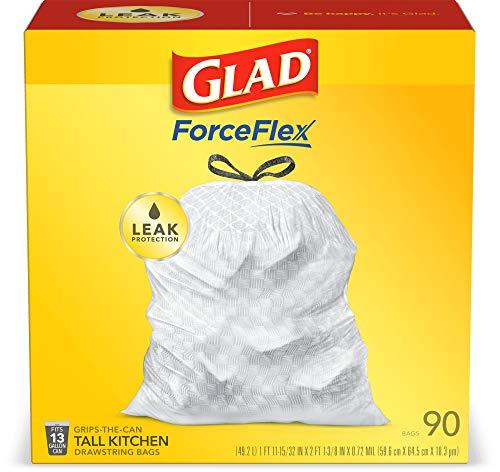 Glad Tall Kitchen Drawstring Trash Bags – 13 Gallon
