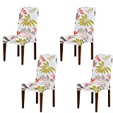 Dining Chair Slipcovers Universal Stretch Seat Cover Protector Removable Fabric Coverings Washable Spandex Chaircase for Hotel, Banquet, Wedding, Party, Restaurant, Home Dinner Décor, Set of 4 PCS (B)