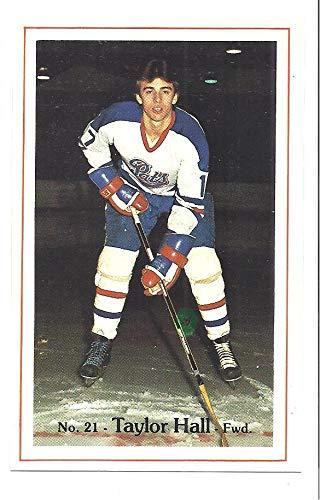 Taylor Hall 1981 82 Regina Pats Police Sga 15 Hockey Rookie