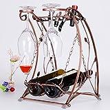 Wine glass holder,Wine cup rack stemware glass storage organizer freestanding wine cup display stand-A L10W10H16inch(262541cm)