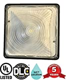 65W LED Bright Canopy Light | 350W HPS/HID Replacement | 120-277V 5000k (Daylight Bright) 6600 Lumen | Weatherproof | Great For Parking Lots, Storage Areas, Walkways | UL and DLC Listed (65W)