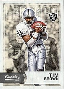 2016 Classics Oakland Raiders Football Card #125 Tim Brown