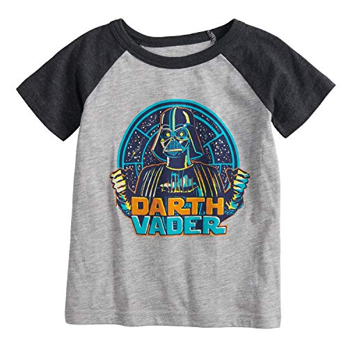 Jumping Beans Little Boys' Toddler 2T-5T Darth Vader Tee 4T Gray -