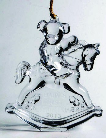 Marquis by Waterford 2013 Baby's 1st Christmas Decorative Ornament, 4.25-Inch Waterford Crystal Christmas Tree Topper