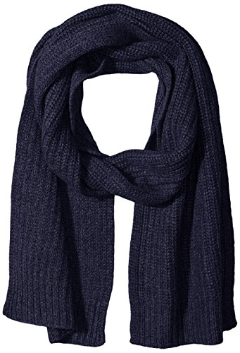 Sofia Cashmere Women's 100 Percent Cashmere Shaker Rib Stitch Scarf, Blue Nights Navy, One by Sofia Cashmere