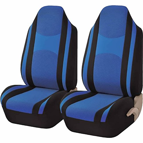 high back bucket seat covers blue - 6