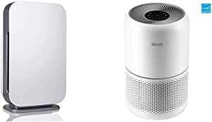 Alen BreatheSmart FLEX Air Purifier for Large Rooms, White & LEVOIT Air Purifier for Home Allergies Pets Hair Smokers in Bedroom, H13 True HEPA Filter, for Large Room, Core 300, White