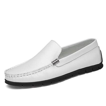 HhGold Calzado holgazán para Hombre Mocasines de Cuero de Primavera/otoño y Zapatillas sin Cordones