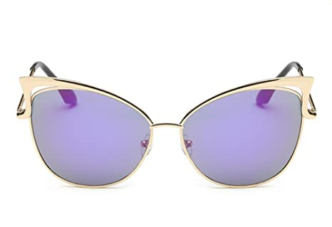 XYLUCKY Nuovo stile Cat Eye occhiali a specchio Street Fashion struttura del metallo donne Sunglasse , d