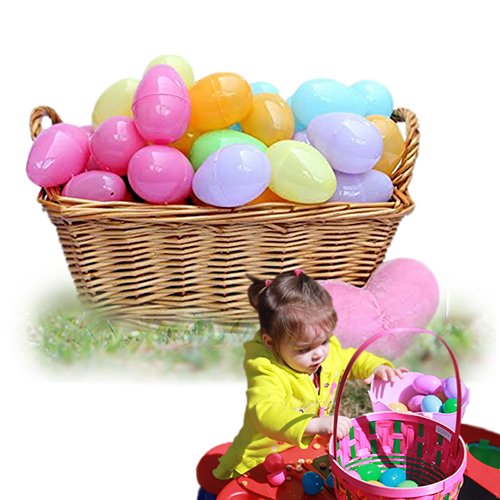 Costume Party Run Facebook (144 Piece Easter Egg Set In Assorted Colors - 2 Inch Easter Eggs - Pull Apart To Hide Charms, Candy & More - By Dazzling Toys)