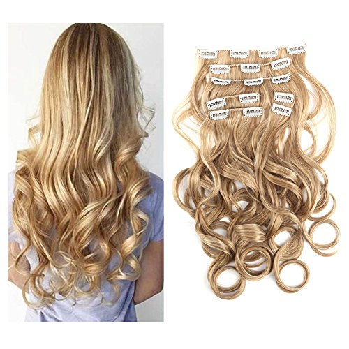 The Best 7pcs Clip in Hair Extension Placement Look Real Synthetic Hair Accessories for Women Fashion Seamless Elegant Wedding Long Bridal Hair Pieces Kit Cheap for Sale(4.6oz per set)