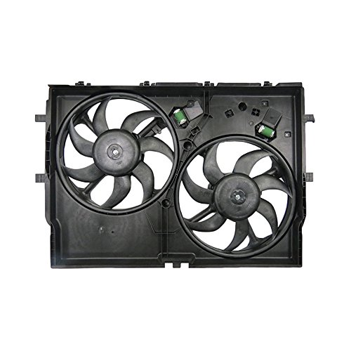 (NEW DUAL RADIATOR AND CONDENSER FAN FITS RAM PROMASTER 2500 2014-2017 CH3115186 )