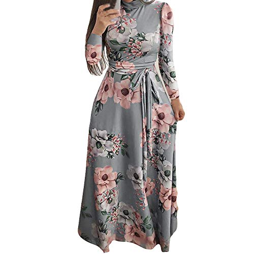 3842ffde5cdcea Damen Long Boho Maxikleid, Elegante Damen Holiday Long Sleeve Knöchel Länge  Kleider Darmowa dostawa