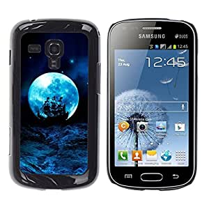 Design for Girls Plastic Cover Case FOR Samsung Galaxy S Duos S7562 Moon Blue Storm Ocean Ship Sails OBBA