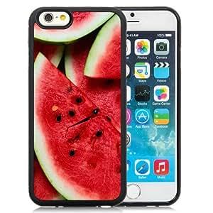 NEW Unique Custom Designed iPhone 6 4.7 Inch TPU Phone Case With Watermelon Pieces Lockscreen_Black Phone Case