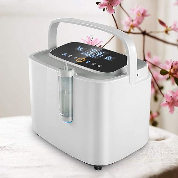 Inlovearts Concentrador de oxígeno portátil para el hogar y los ...