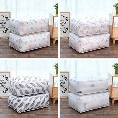 (angel3292 Hot sale 2018 Fashion Folding Waterproof PEVA Quilt Clothes Blanket Large Capacity Storage Bag)