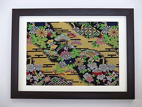 kimono-fabric-frame-made-in-kyoto-no1-center-crane-gold-color-thread