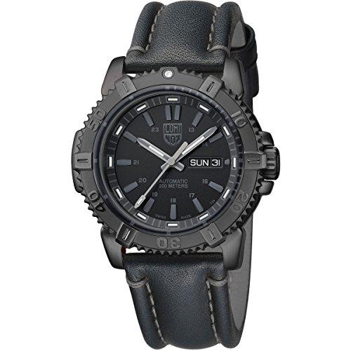 Luminox Men's Modern Mariner 6501.BO Black Leather Swiss Automatic Watch