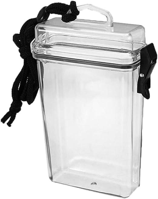 KINTRADE Caja de Cigarrillo Transparente a Prueba de Agua Transparente Caja con Cuello colgado Lápiz Labial de plástico portátil Caja de Almacenamiento de Tarjeta Encendedor con cordón: Amazon.es: Hogar