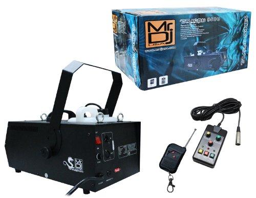 Mr. Dj DRAGON-3500 3500-Watts Max High Output Fog Machine with Adjustable Head Angle