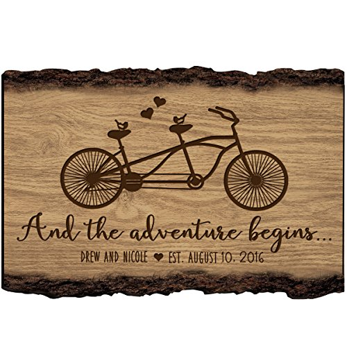 Personalized Family Gift Custom Family Name Sign Engraved with Family Name and Established Date To Remember And The Adventure Begins By LifeSong Milestones (And The Adventure Begins) - Established Date Plaque