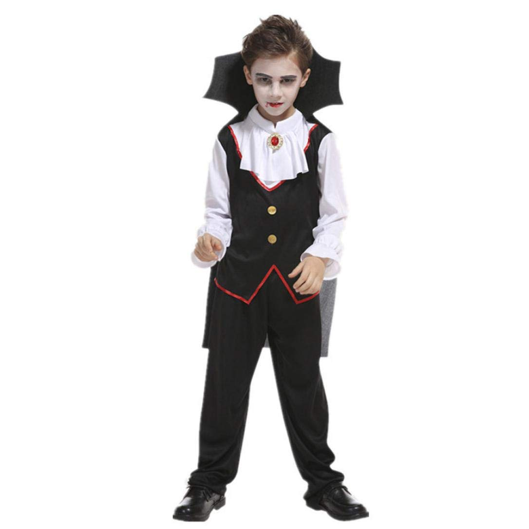 Boys Halloween Costume,Jchen(TM) Toddler Kids Little Boys Girls Halloween Cosplay Costume Tops Pants Cloak Outfits Sets for 4-10 Years Old (Height:130-140CM, C)