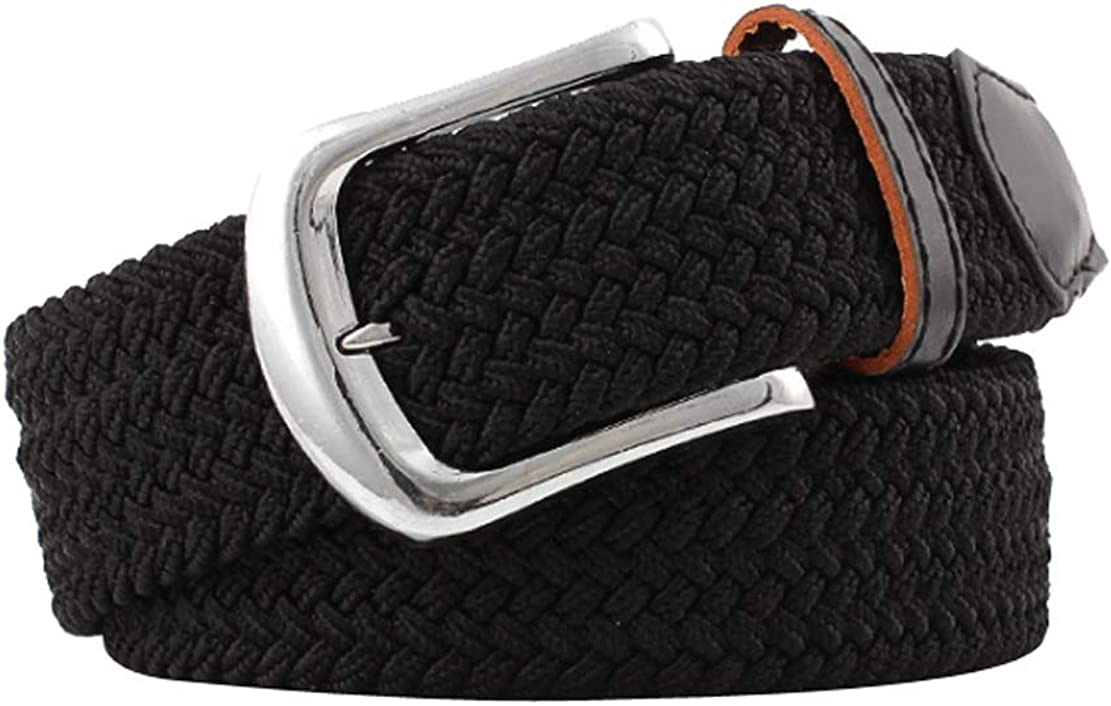 ACVIP Womens Solid Color Plaited Casual Decoration Flexible Belt