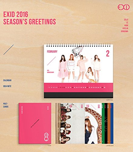 EXID 2016 Season's Greetings[+EXID autograph photo][+EXID polaroid photo(with signature)][+EXID autograph event photo][+EXID teaser photo][+Postcard][+Sticker]