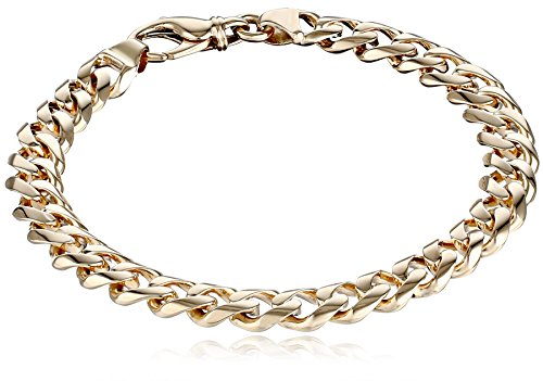 - Men's 14k Yellow Gold 8.4mm Fancy Cuban Bracelet