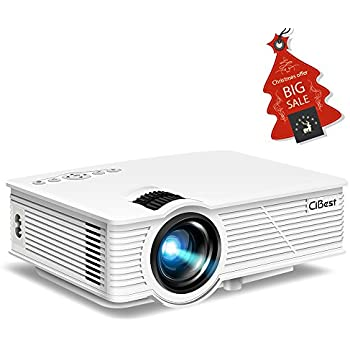 """CiBest LED Video Projector Portable, 130"""" Multimedia Home Theater Mini Movie Projectors 1500 Luminous Efficiency Support 1080P HDMI USB SD Card VGA AV for Home Cinema TV Laptop Game Smartphone"""