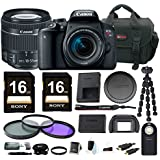 Canon EOS Rebel T7i DSLR Camera w/18-55mm Lens + Filter kit & 32GB Accessory Bundle