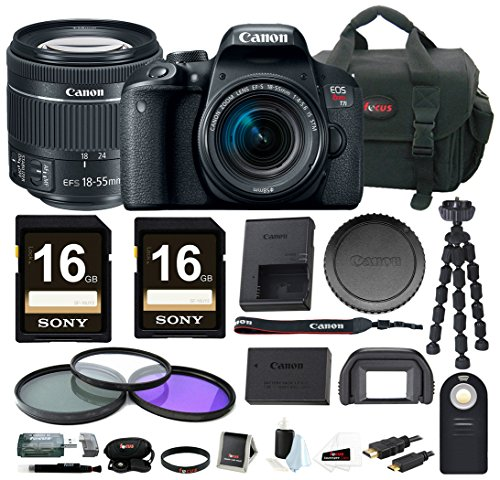 Canon Eos Digital Slr Cameras - Canon EOS Rebel T7i DSLR Camera w/18-55mm lens & 32GB Accessory Bundle