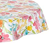 Elrene Home Fashions 39321MLT Vinyl Picnic Outdoor Tablecloth/Umbrella Hole/Flannel Backing, 70″ Round Umbrella Hole Review