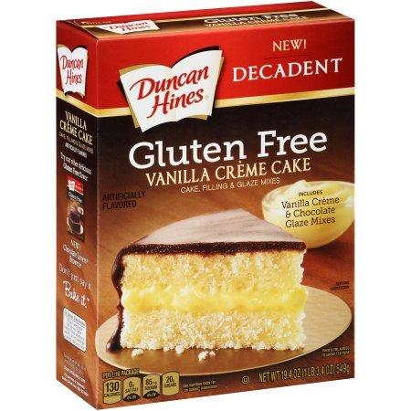 Duncan Hines Gluten Free Decadent Vanilla Créme Cake Mix, 19.4 (Vanilla Cake Glaze)