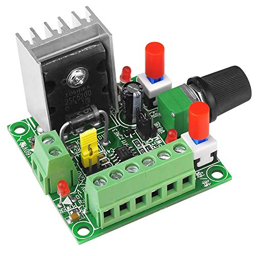 uniquegoods DC 15-160V/5-12V Stepper Motor Driver PWM Pulse Generator Stepper Motor Controller Speed Regulator Forward Reverse Control
