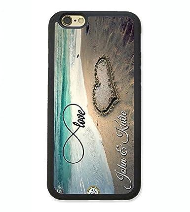 Amazon.com: artsycase infinity Love playa corazón par Nombre ...