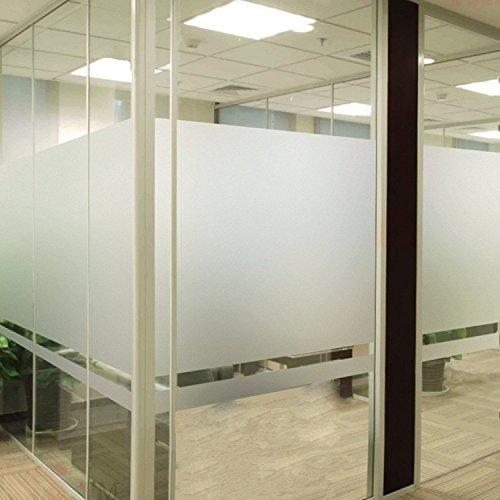 bofeifs Privacy Window Film No-glue Frosted Glass Film Decor