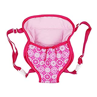 XADP Baby Doll Carrier Backpack Doll Accessories Front/Back Carrier with Straps- Fits 15 Inch to 18 Inch Dolls, Doll Carrier