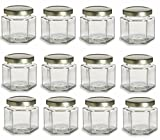 4 oz hexagon glass jars - Nakpunar 12 pcs , 4 oz Hexagon Glass Jars for Jam, Honey, Wedding Favors, Shower Favors, Baby Foods, DIY Magnetic Spice Jars